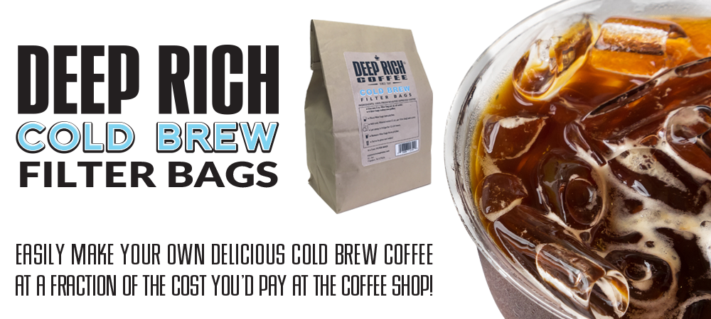 Deep Rich Cold Brew Coffee Filter Bags