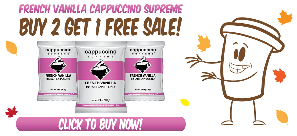 French Vanilla Instant Cappuccino Mix Buy 2 Get 1 Free