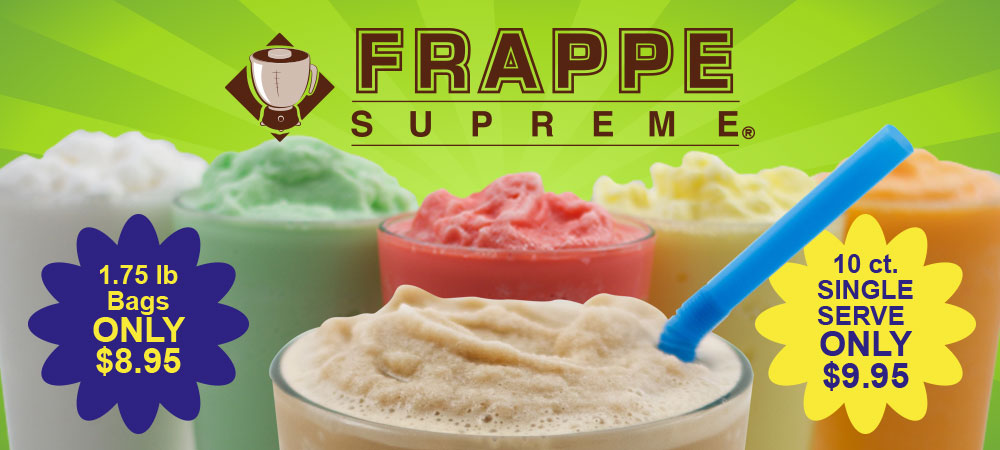 Creamy, refreshing and easy to make frappe mixes 1.75 lb bags and single serve