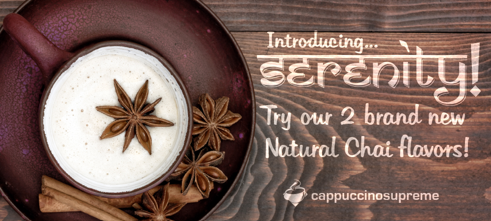 Delicious, natural chai mixes from Cappuccino Supreme