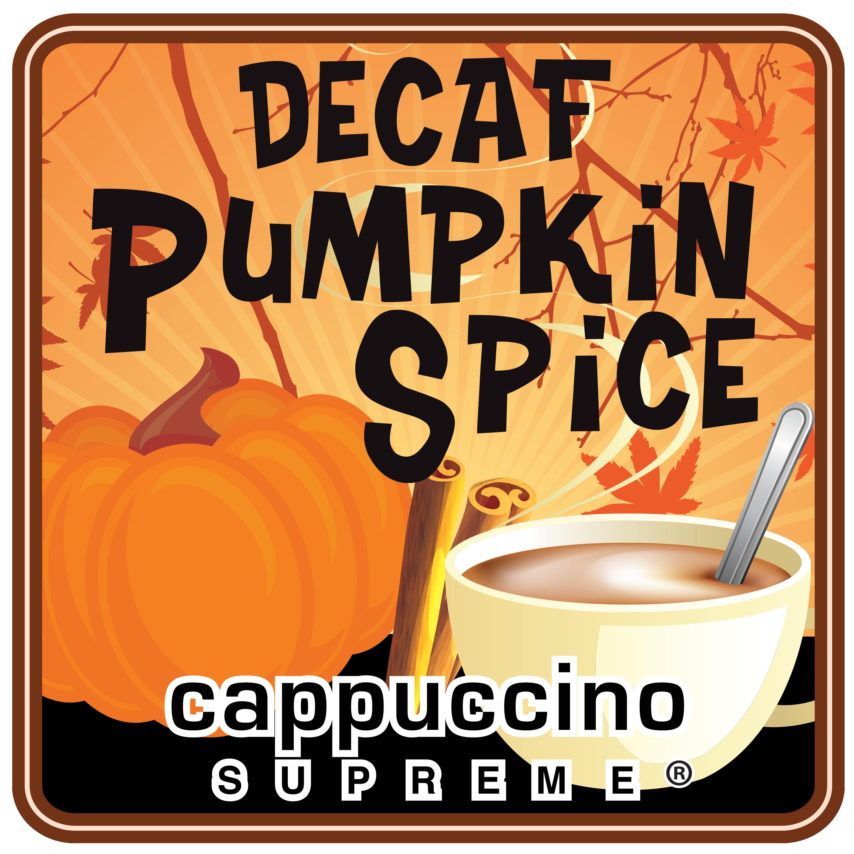decaf pumpkin spice cappuccino