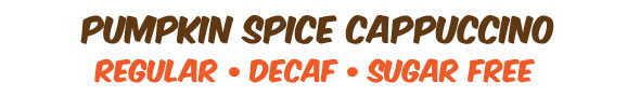 decaf, regular, sugar free cappuccino mix
