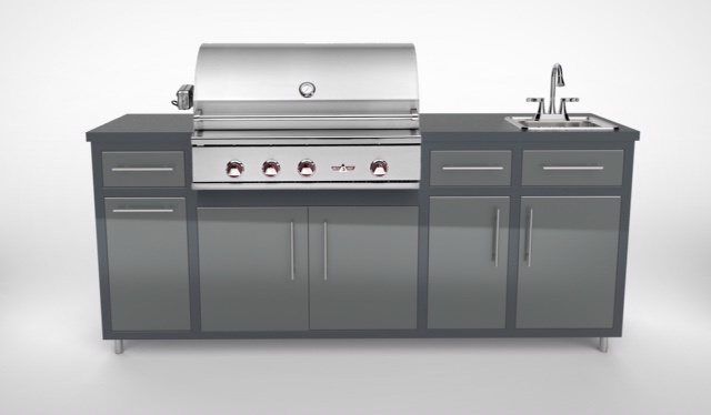 "Delta Heat 32"" Challenger Design Deluxe Outdoor Kitchen Package"