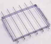 Shish-ke-bab Set 6 Chrome Plated 14-in Skewers With Convenient Folding Rack