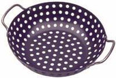 Deluxe Non-stick Wok Topper 11-in w Chrome Handles