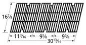 16 7/8 x 30 13/16, Matte Cast Iron Cooking Grid | Outdoor Gourmet | 64033