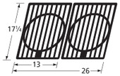 Cast Iron Cooking Grids, 17 1/4-in x 26-in | 64332