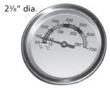 BBQ heat gauge