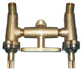 Brass twin valve assembly