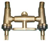 Brass twin valve assembly
