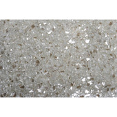 American Fireglass Platinum Reflective | 1/4-in Fire Glass | 10 lbs