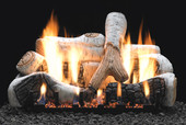 18-in Birch Gas Log Set, Millivolt On/Off Remote Ready Burner | LP
