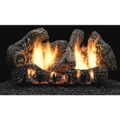 Empire 18 Super Charred Oak Gas Logs w Vented LP Manual Burner
