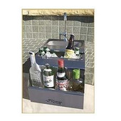 Alfresco 14-in Built-in Bartender Sink + Faucet | ADT-14