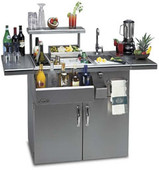Alfresco 42-in Bartender on Refrigerated Cart