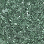 1/4-in Evergreen Fire Glass, American Fireglass, 10 Lb