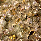 American Fireglass Gold Reflective | 1/2-in Fire Glass | 1 lb