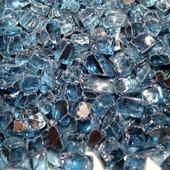 American Fireglass Pacific Blue Reflective | 1/2-in Fire Glass | 1 lb