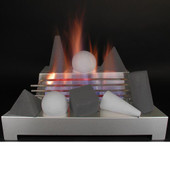 24-in Alterna FireShape Black - Light Grey Vent Free w  SS Burner | Variable| LP