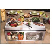 Alfresco Built-in Plating And Garnish Center w Food Pans
