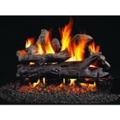 18-in Coastal Driftwood Vented Natural Gas Log Set, Stainless G45 Burner, Match Light