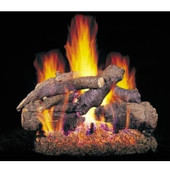 18-in Charred American Oak Vented Logs, No Burner | CHAO18/20