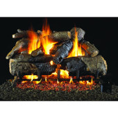 18-in Charred American Oak Natural Gas Log Set, G4 Burner, Match Light