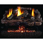 18-in Charred Aged Split Vent Free Gas Log Set, G10 Burner, Manual Safety Pilot