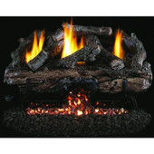 18-in Charred Aged Split Vent Free Log Set w G10 Stainless Burner, Manual Safety Pilot
