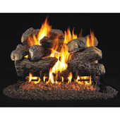 18-in Charred Royal English Oak Log Set, SS G45 Burner, Match Light, NG