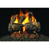CHDG45-16-SS Peterson Gas Logs 16 Inch Charred Oak Vented Natural Gas Log Set With Outdoor Stainless G45 Burner - Match Light