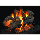 16-in Charred Oak See-Thru Log Set | Vented | G45 Burner | Match Light NG