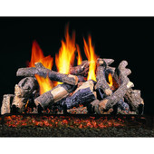 Charred Oak Stack Vented Gas Log Set