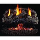 18-in Charred Frontier Oak Log Set | Outdoor G10 Burner | Manual Safety Pilot | NG