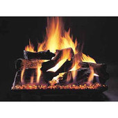 24-in Evening Campfire Double Face | Custom Embers Pan Burner | Match Light | NG