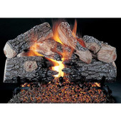 20-in Evening Prestige See-Thru Log | V | Flaming Ember Burner | Match Light | NG