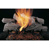 20-in Evening Campfire Logs | Flaming Ember Burner | Match Light | NG