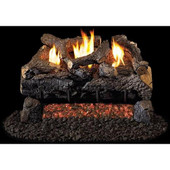 18-in Evening Fire Charred Log Set | G18 Burner | Basic On/Off Remote | LP