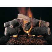 20-in Evening Lone Star Logs | Flaming Ember Burner | Match Light | NG