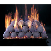 "18"" Natural Fire Balls Vented Match Light Custom Embers Pan Burner 