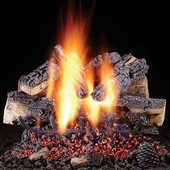 18-in Classic Charred Oak Vented Logs | NG