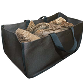 Large Heavy Duty Wood Carrier | Black