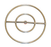 """24\"""" In Ground Stainless Steel Ring Fire Pit Match Lit Insert Kit"""