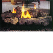 "Heat Majic Millivolt Multi-Sided 27"" Vent Free Ceramic Fiber Gas Log set - Natural Gas"