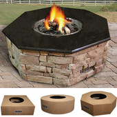 Octagon Custom 45-in unfinished Fire Pit Housing for 25-in pan