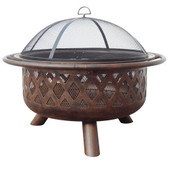 Firebowl Criss-Cross Wood Fireplace