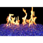 American Fyre 18-in G45 Glass Burner | Sapphire Gems  | Variable Flame Remote | NG