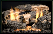 20-in Texas Oak Vent Free Gas Log Set | Remote Ready | LP