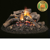 "HCA-18-RFN HardWood Unitized (One Piece) 18"" Ceramic Fiber Vented Gas Log/Burner Set, Natural Gas"