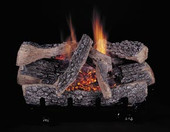 HF 30-in Evening Embers |9-Piece | Split/Bark | Vent Free | Logs Only